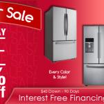 President Day Sale Refrigerator
