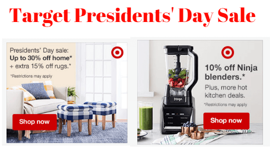 Target President's Day Sale 2020
